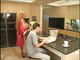Stepmom Gives a big titty treat