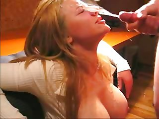 Awesome  BigTits Cumshot