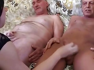 Young girl fingering dick guy