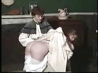 Bad Girl is punished by old hoe