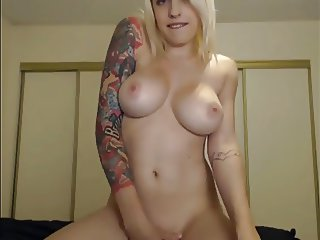 Big Tit Blonde Teasing on Cam