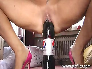 Huge cola bottle fuck and fisting  orgasms