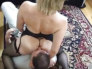 Milf gets her ass eaten with you