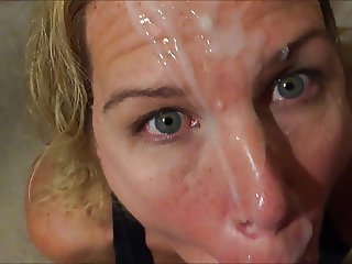 My second facial for her from gloryhole night