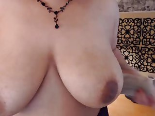 Big soft natural breast on Milf