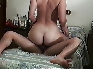 Curvy wife with a beautiful round and big ass riding