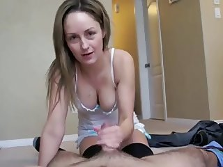 Amazing milf wife and her soft tender hands stroking my dick