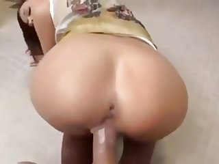 Beautiful tiny brunette anal on a public toilet