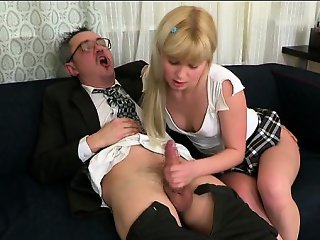 Teacher tasting a chaste bawdy cleft