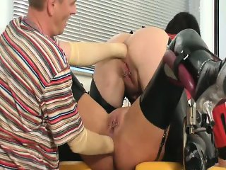 Two double anal fist fucked amateur MILFs