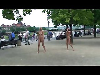 spectacular public nudity with Linda