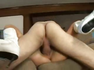 His Step Mom Walks In While He's Wanking