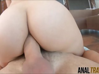 Lovely Honey Sweet jizzed after anal sex