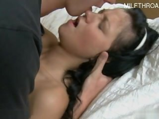 Horny housewife surprise cumshot