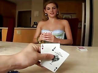 She plays poker and loses money and ass