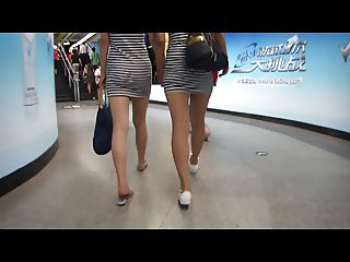 walk behind short skirt girl :5 (China)