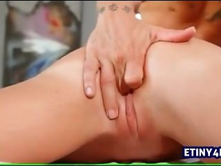 Perfect guy on girl massage session