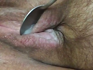 Collecting my cum