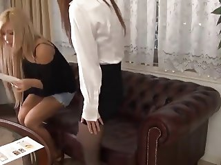 Blonde gal fucked after sexual massage