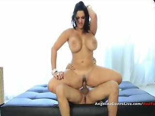 Busty Angelina Castro Rewards a Helping hand!
