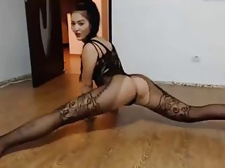 Amateur Dancing Sexy in Lace Dress