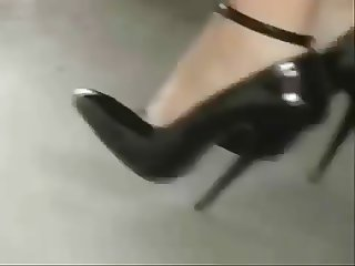 Black stilettos high heels