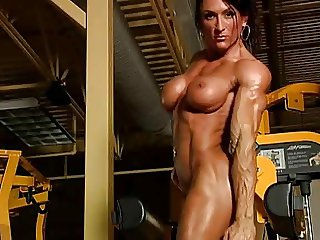 Female body builder in the gym DMvideos