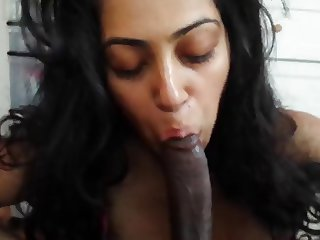 Horny desi girl bowjob with cum part 4