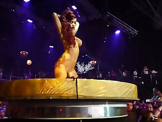 ibiza disco rave party nude gogo girls on stage