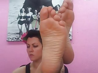 Big Nordic-French Feet of Hazel Blonde Celine Part 2