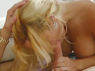 Blonde cougar mom milf suck and smallow HQ