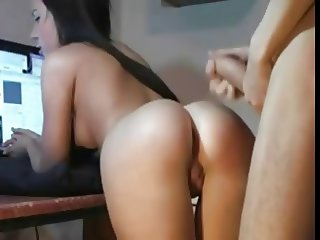 Anal Plowing His Superb Tight Ass Girlfriend