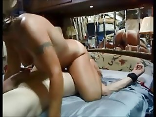 Amateur hot milf riding face dildo