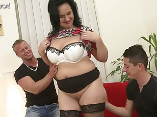 Sexy MOM suck and fuck not her SON and son
