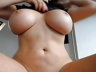 Huge breast on dildo fucking milf