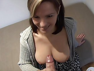 Rita Peach - Cum on Her Boobs