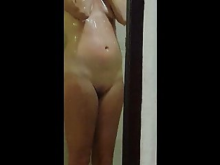 young milf vacay shower