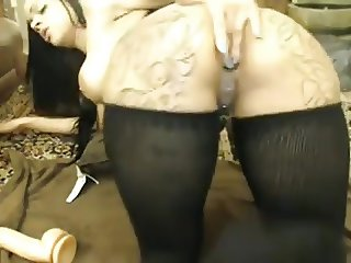 Nice Tatooed Girl WebCam Fisted all Holes 3
