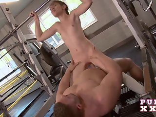 PURE XXX FILMS Lucie at the gym