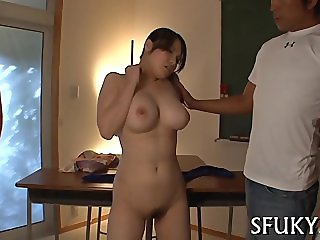 She moans loudly when penetrated