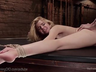 Blonde Slut Anal Trainee