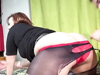 Cute French Lili fucked in pantyhose
