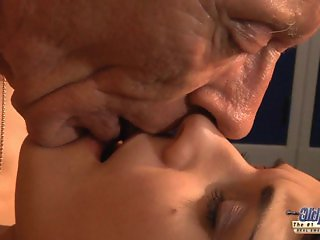 Young girl is so kinky that fucks an old fart
