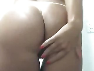 Amateur Latina Bubble Butt strips, spreads, and fingers