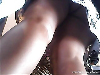 UPSKIRT 22 - INDIAN BABE BARE ASS WITH STRING THONG