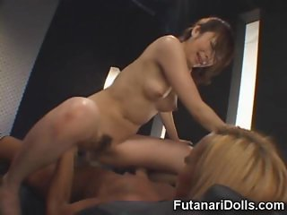 Hot Futanari Fucks a Club Girl!