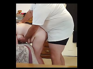 fucking my bbw wife doggy over the bed