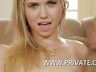 Blonde not Step sister Violette Pink Gets DP