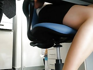sexy legs under table