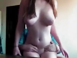 Brunette With Large Natural Tits and Nipples Fucks & Facial